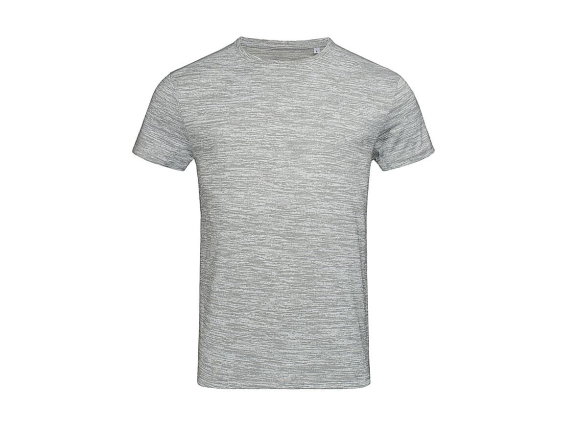 Stedman Active Intense Tech T-Shirt, Grey Heather, XL bedrucken, Art.-Nr. 016051236