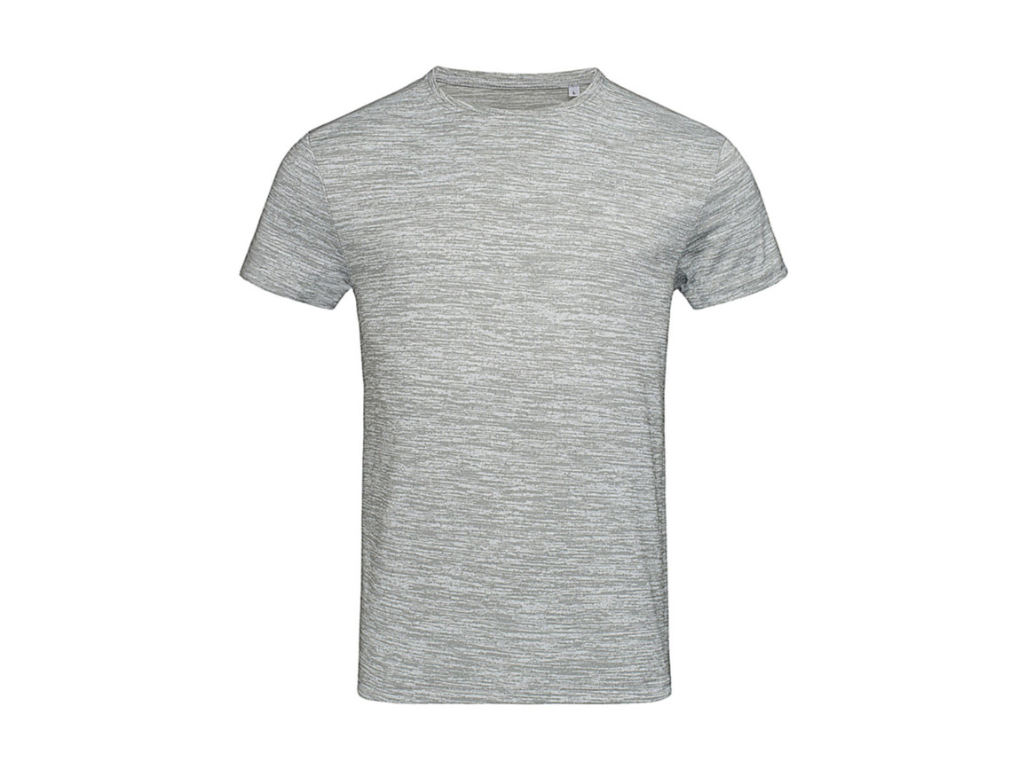 Stedman Active Intense Tech T-Shirt, Grey Heather, S bedrucken, Art.-Nr. 016051233
