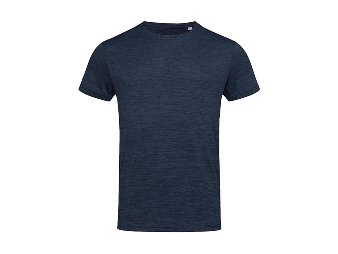 Stedman Active Intense Tech T-Shirt, Marina Heather, 2XL bedrucken, Art.-Nr. 016052187