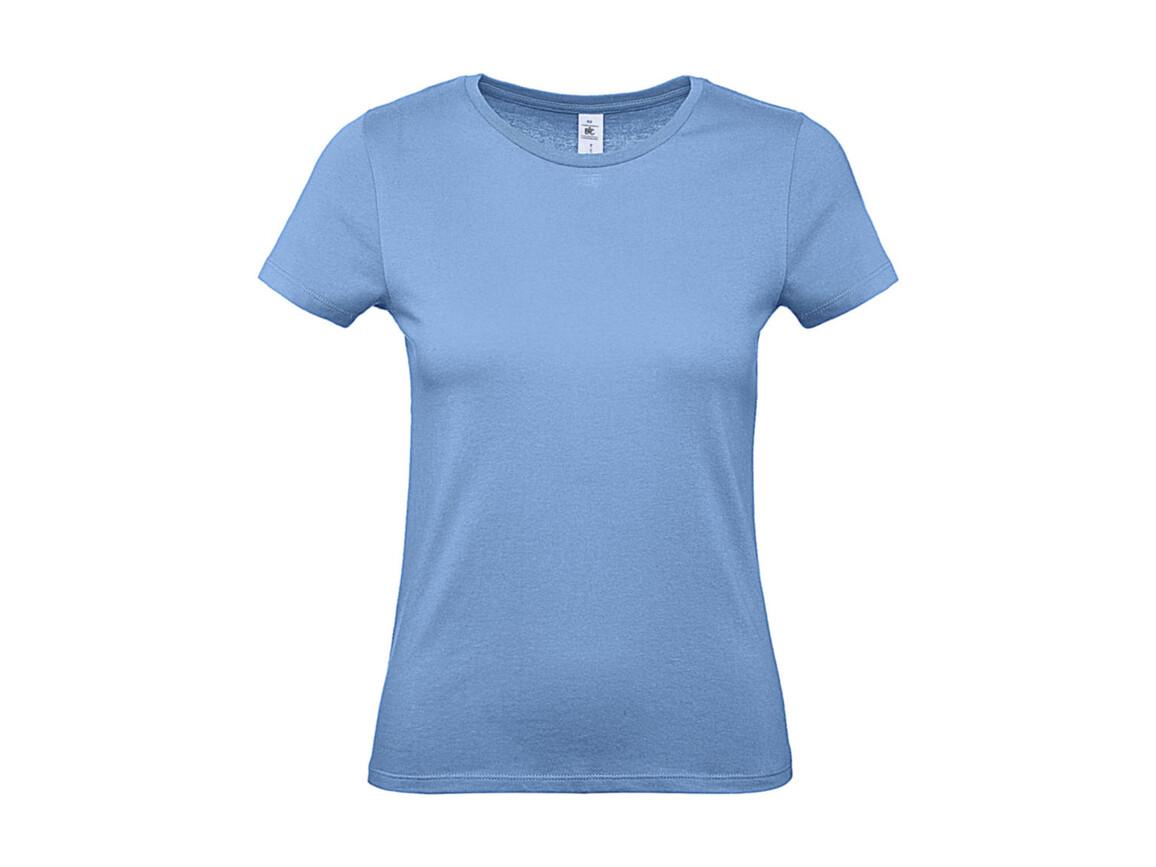 B & C #E150 /women T-Shirt, Sky Blue, M bedrucken, Art.-Nr. 016423204
