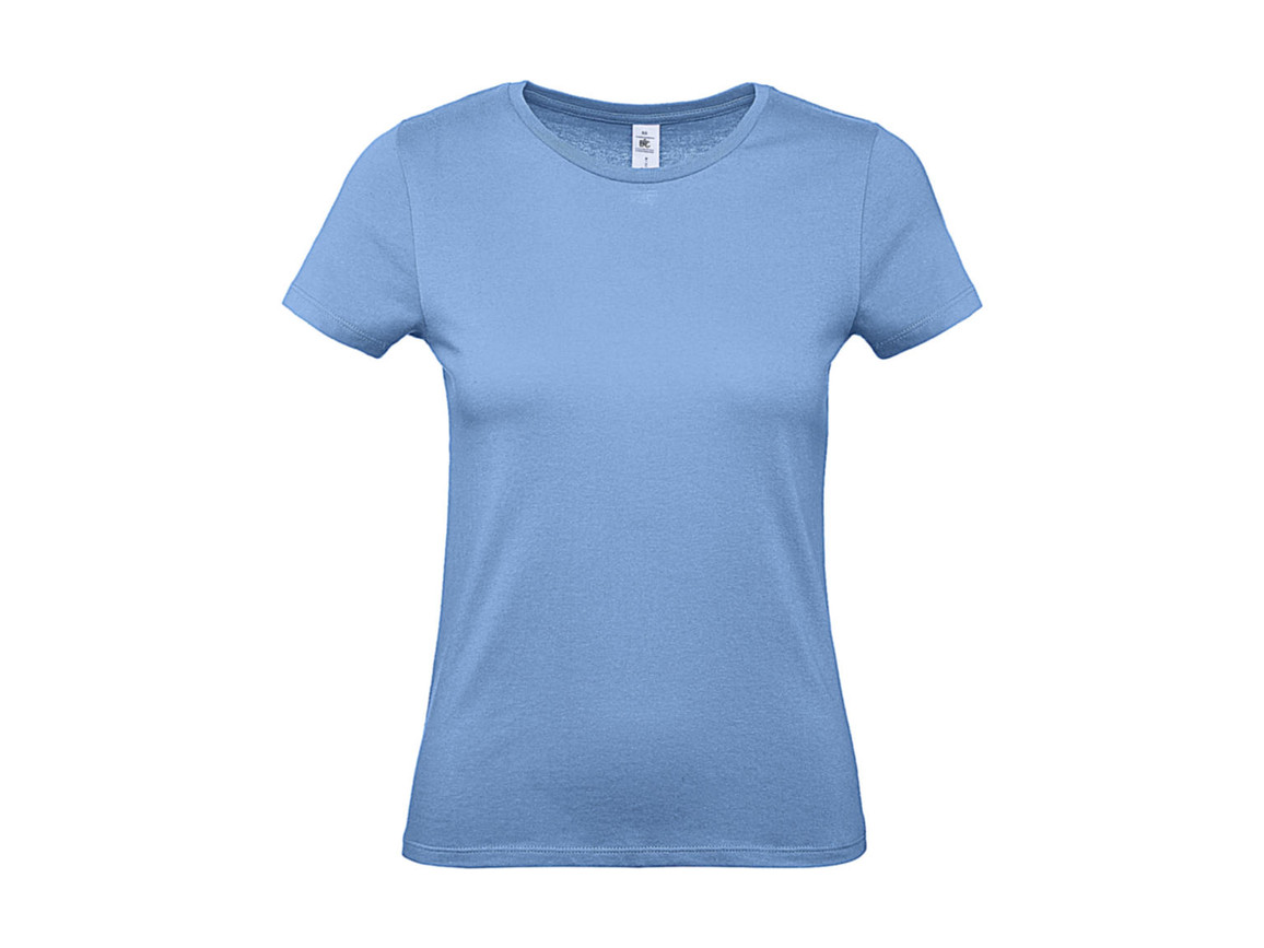 B & C #E150 /women T-Shirt, Sky Blue, XL bedrucken, Art.-Nr. 016423206