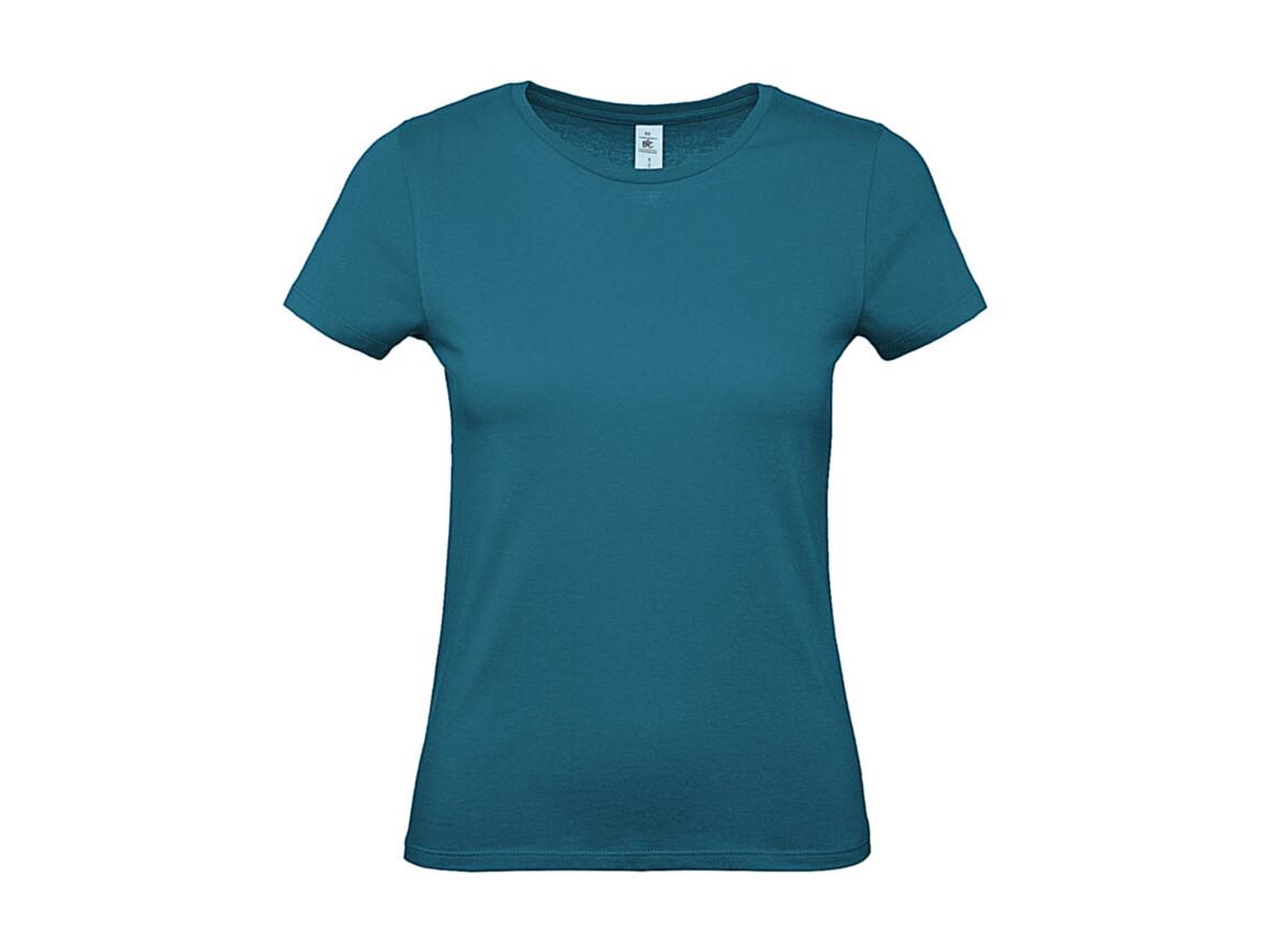 B & C #E150 /women T-Shirt, Diva Blue, L bedrucken, Art.-Nr. 016423305
