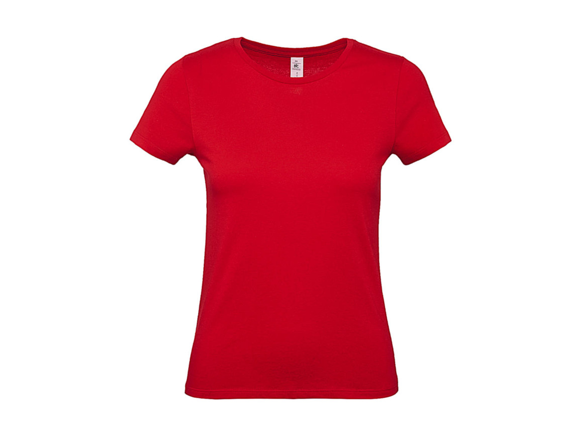 B & C #E150 /women T-Shirt, Red, XS bedrucken, Art.-Nr. 016424002