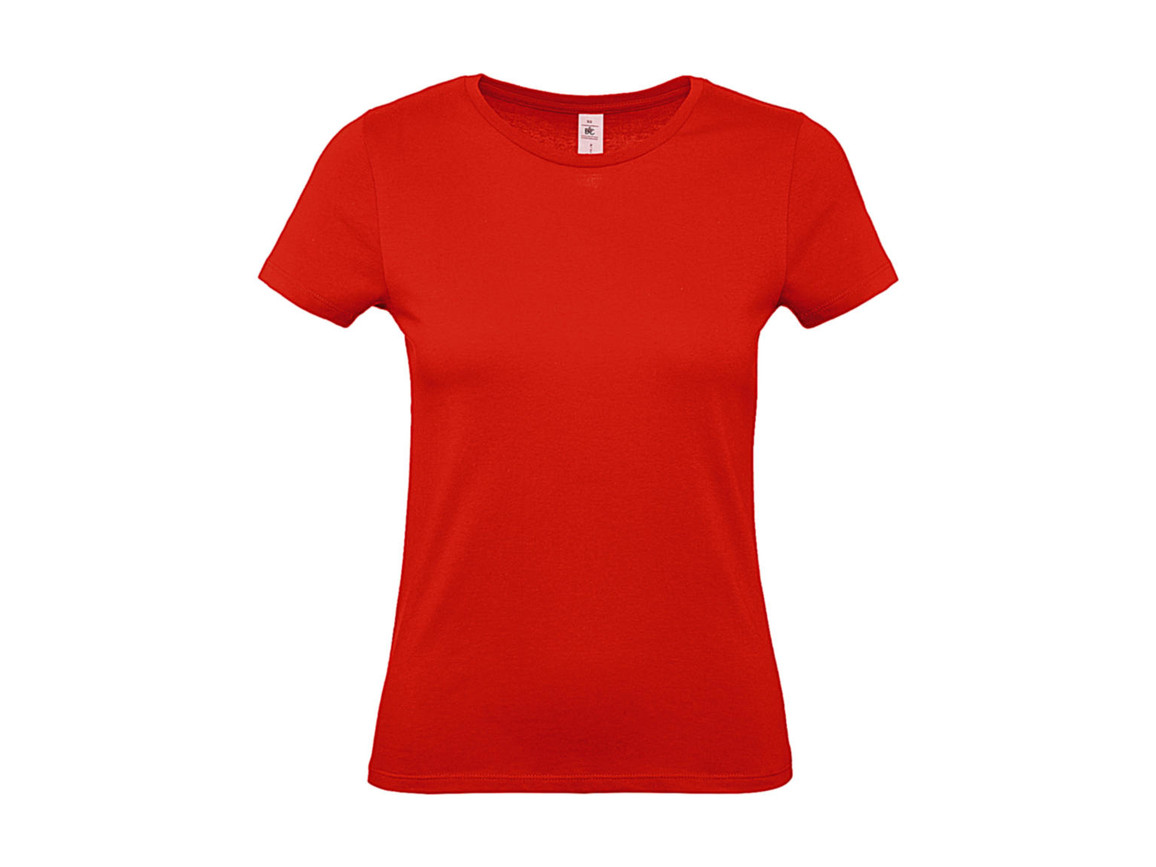 B & C #E150 /women T-Shirt, Fire Red, 2XL bedrucken, Art.-Nr. 016424077