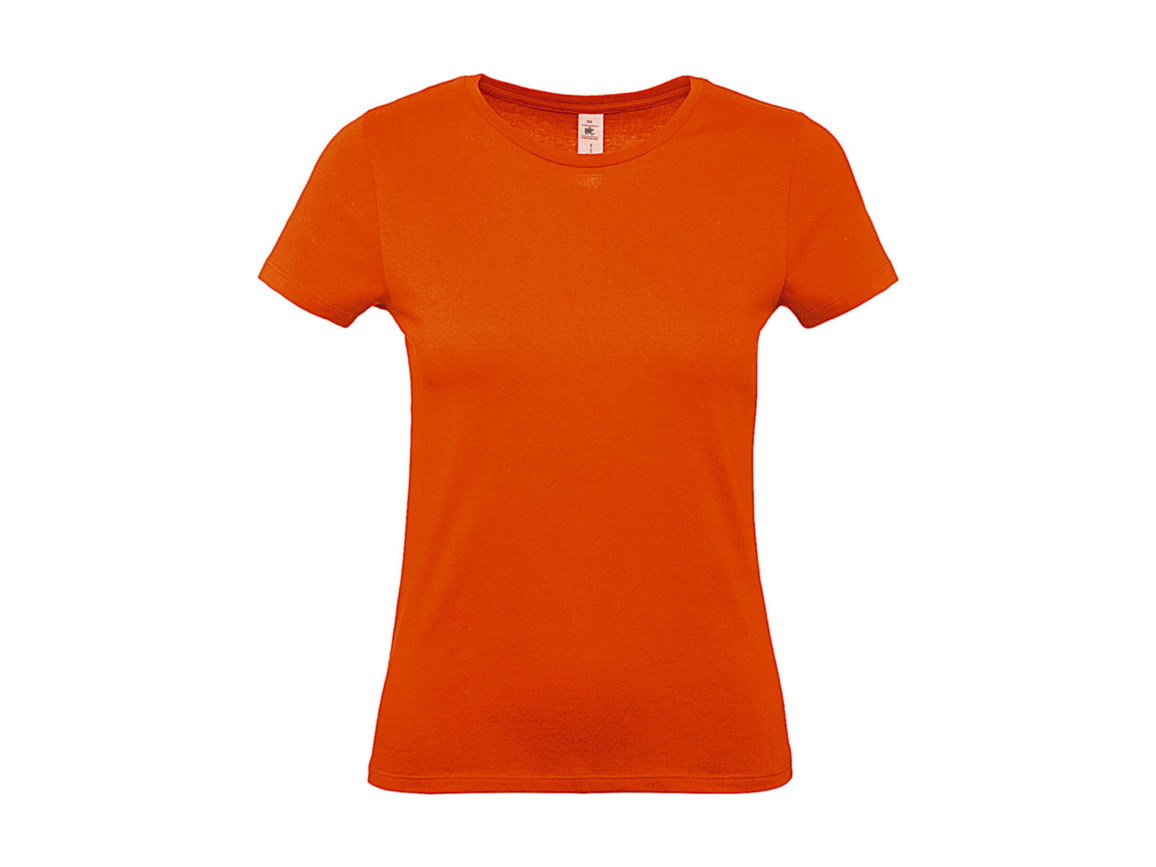 B & C #E150 /women T-Shirt, Orange, L bedrucken, Art.-Nr. 016424105