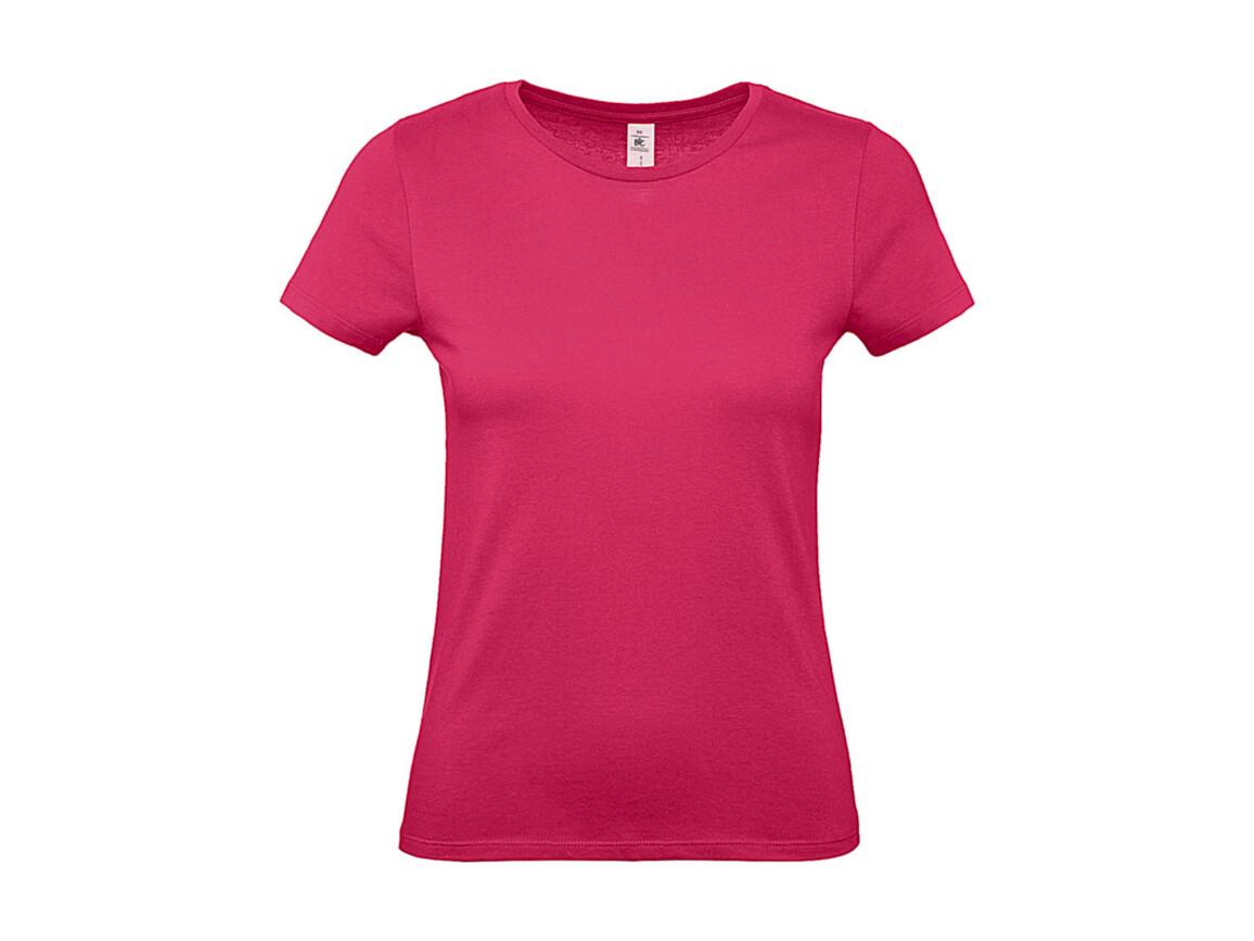 B & C #E150 /women T-Shirt, Fuchsia, M bedrucken, Art.-Nr. 016424184