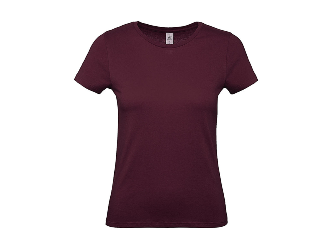 B & C #E150 /women T-Shirt, Burgundy, L bedrucken, Art.-Nr. 016424485