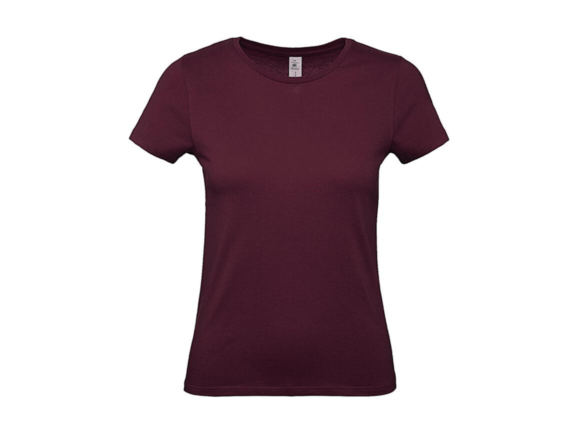 B & C #E150 /women T-Shirt, Burgundy, M bedrucken, Art.-Nr. 016424484