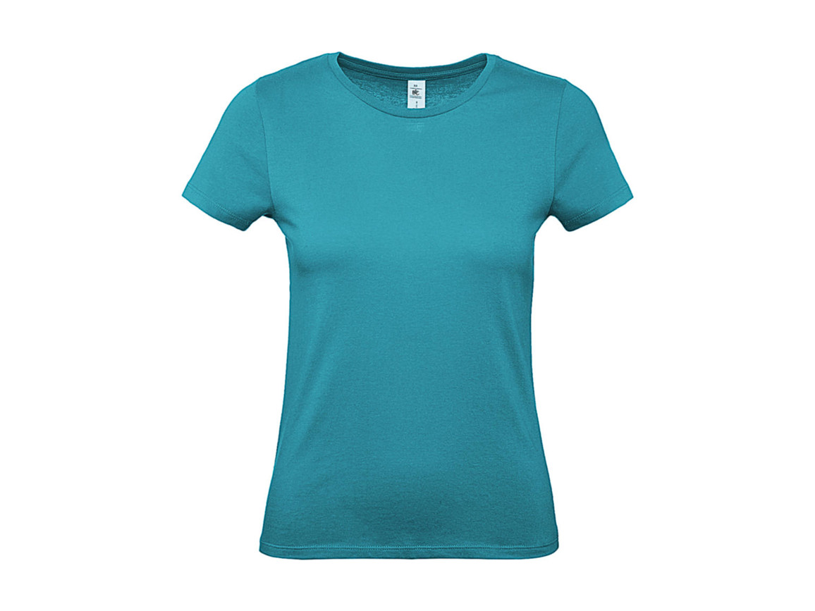 B & C #E150 /women T-Shirt, Real Turquoise, 2XL bedrucken, Art.-Nr. 016425337