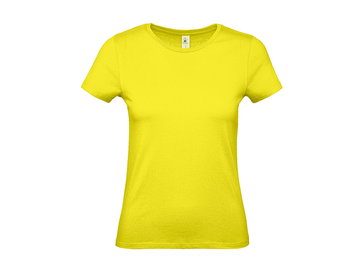 B & C #E150 /women T-Shirt, Solar Yellow, L bedrucken, Art.-Nr. 016426075
