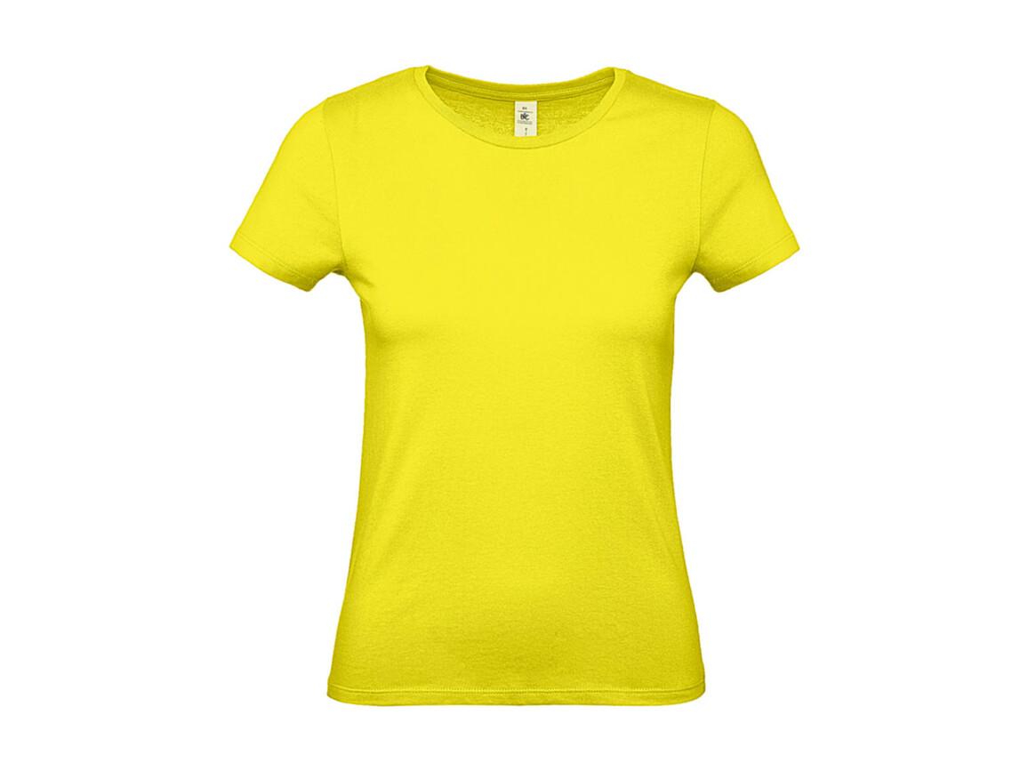 B & C #E150 /women T-Shirt, Solar Yellow, S bedrucken, Art.-Nr. 016426073