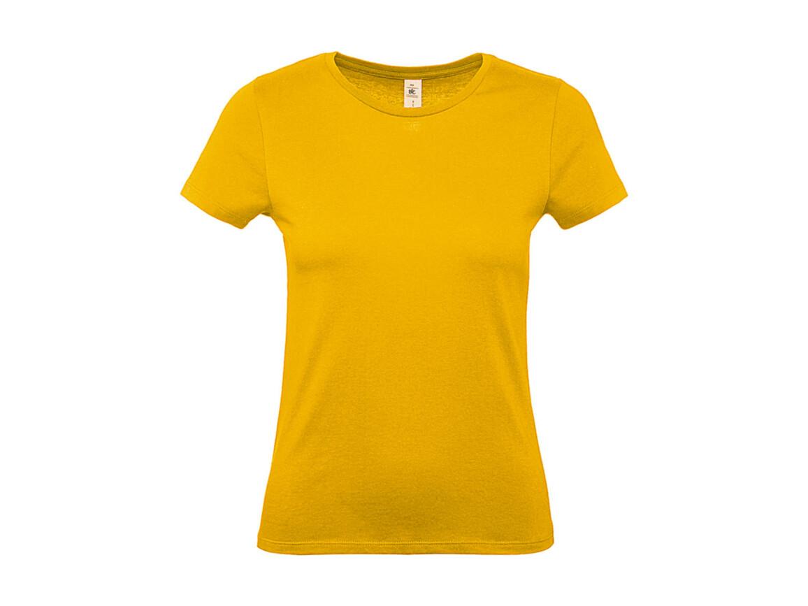 B & C #E150 /women T-Shirt, Gold, S bedrucken, Art.-Nr. 016426433