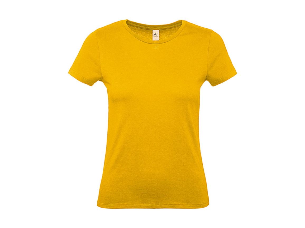 B & C #E150 /women T-Shirt, Gold, M bedrucken, Art.-Nr. 016426434