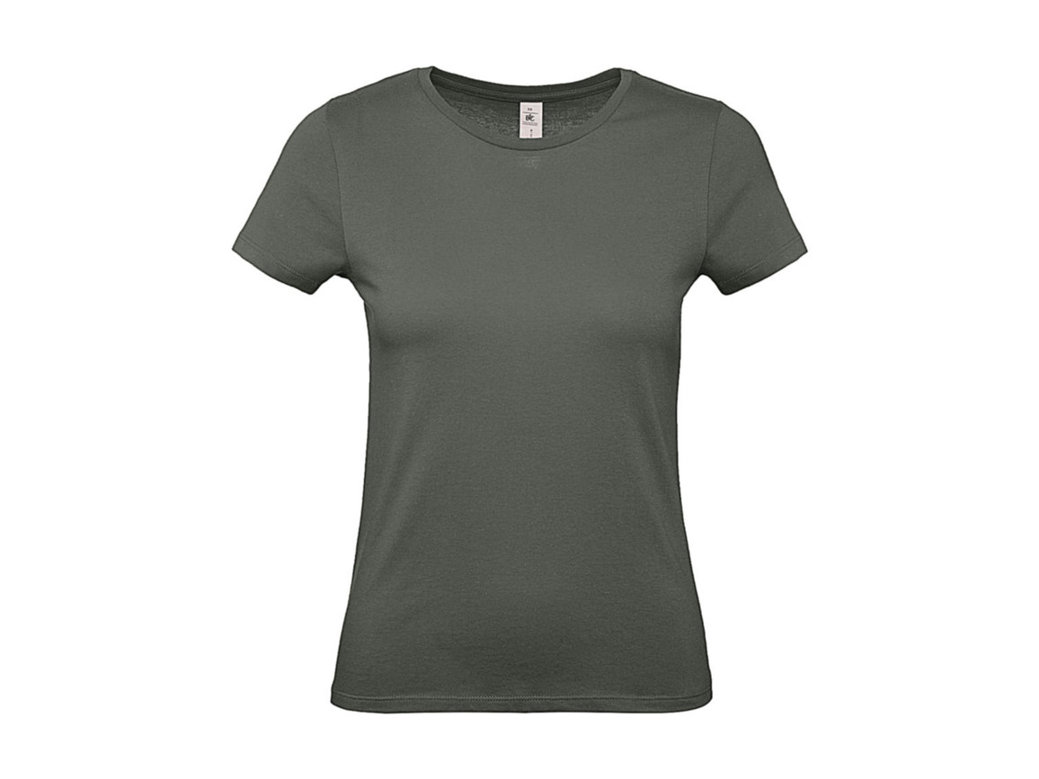 B & C #E150 /women T-Shirt, Millenial Khaki, 2XL bedrucken, Art.-Nr. 016427337
