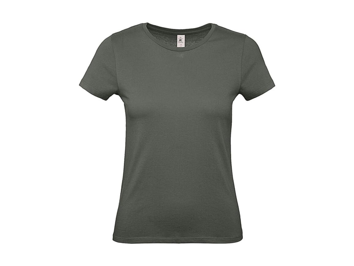 B & C #E150 /women T-Shirt, Millenial Khaki, XS bedrucken, Art.-Nr. 016427332