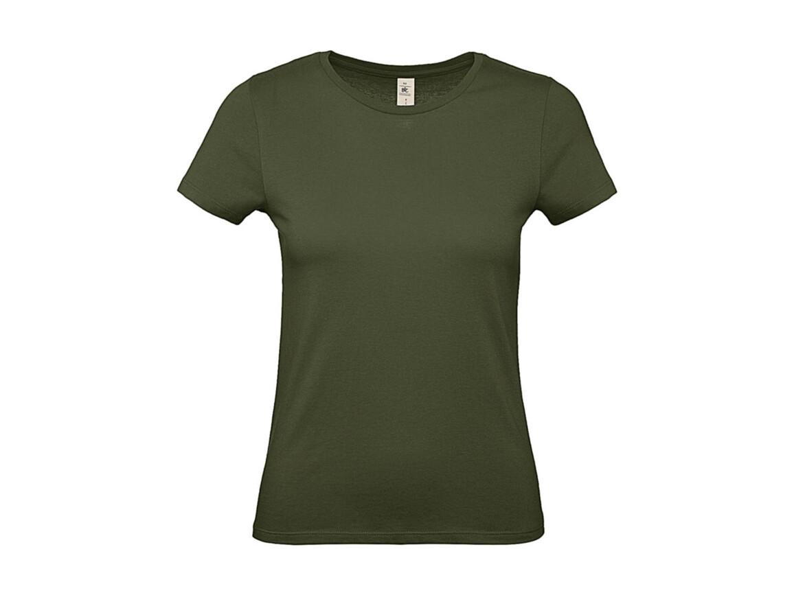B & C #E150 /women T-Shirt, Urban Khaki, M bedrucken, Art.-Nr. 016427364