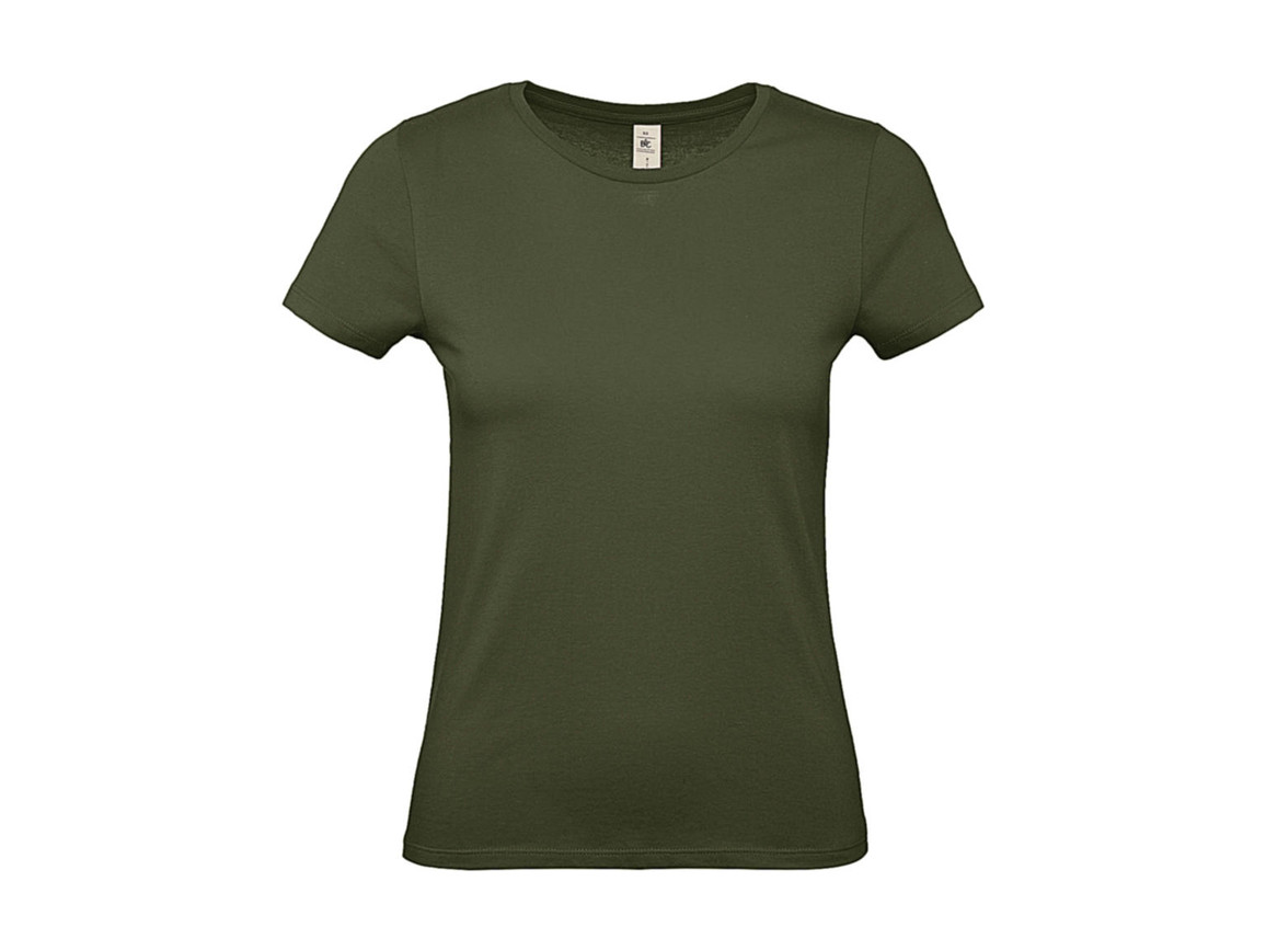 B & C #E150 /women T-Shirt, Urban Khaki, XS bedrucken, Art.-Nr. 016427362