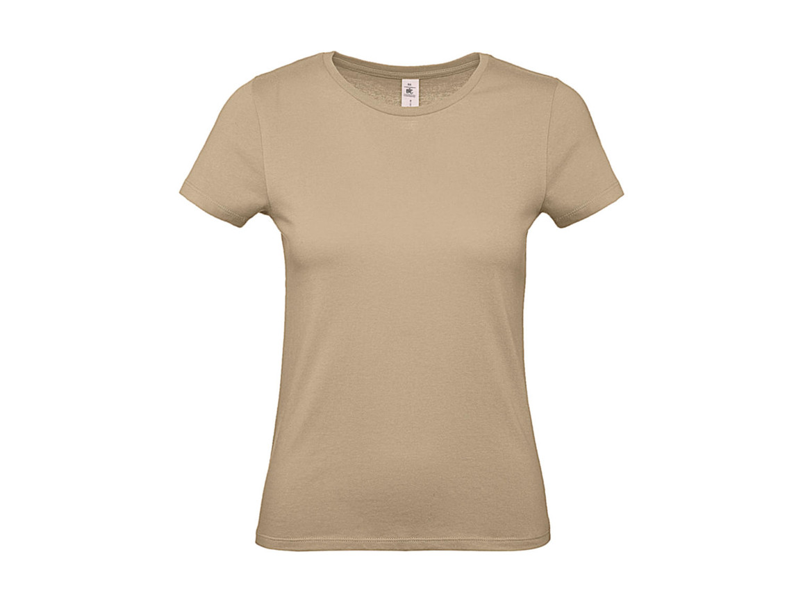 B & C #E150 /women T-Shirt, Sand, M bedrucken, Art.-Nr. 016427414