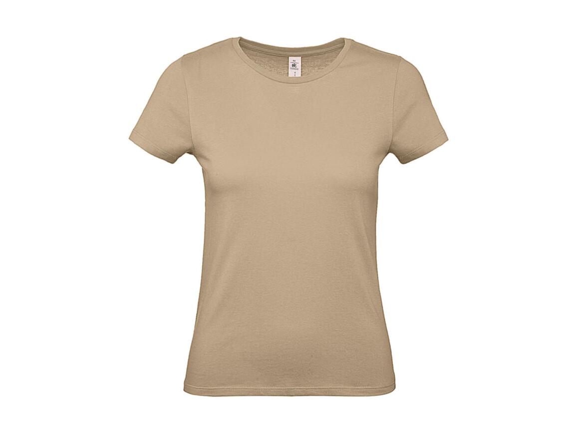 B & C #E150 /women T-Shirt, Sand, L bedrucken, Art.-Nr. 016427415