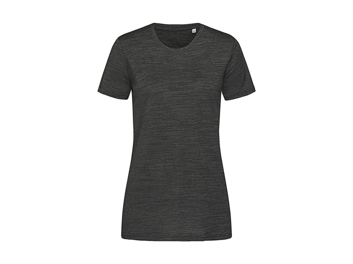 Stedman Women`s Active Intense Tech T-shirt, Anthra Heather, XL bedrucken, Art.-Nr. 017051186