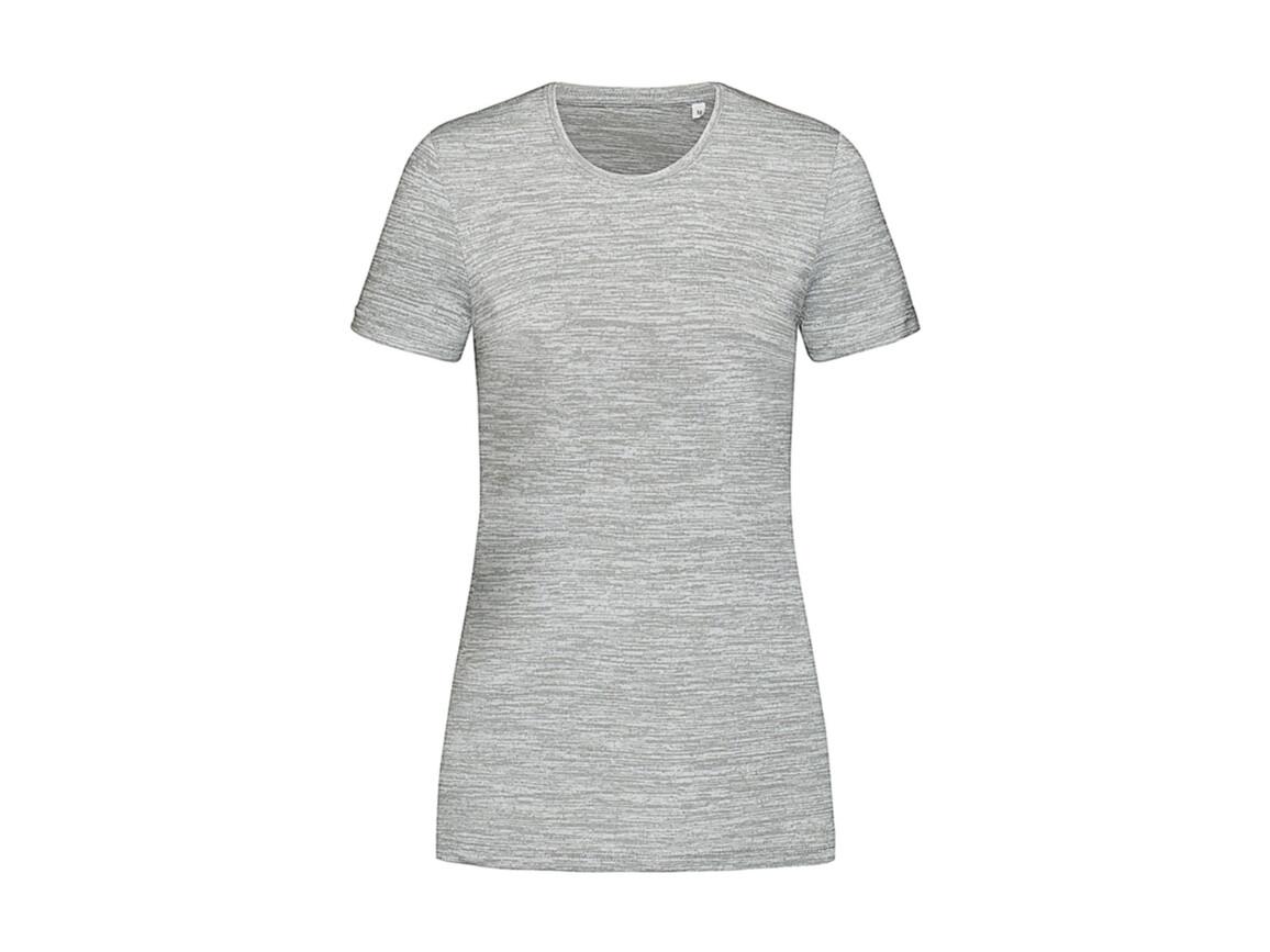Stedman Women`s Active Intense Tech T-shirt, Grey Heather, L bedrucken, Art.-Nr. 017051235