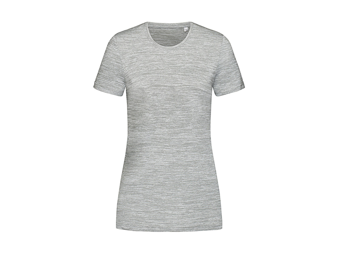 Stedman Women`s Active Intense Tech T-shirt, Grey Heather, M bedrucken, Art.-Nr. 017051234