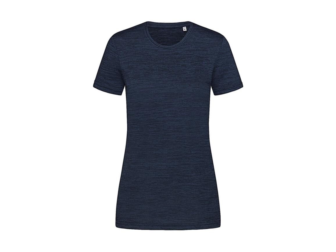 Stedman Women`s Active Intense Tech T-shirt, Marina Heather, XL bedrucken, Art.-Nr. 017052186