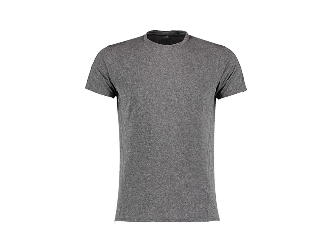 Kustom Kit Fashion Fit Compact Stretch T, Grey Melange, 2XL bedrucken, Art.-Nr. 017111137