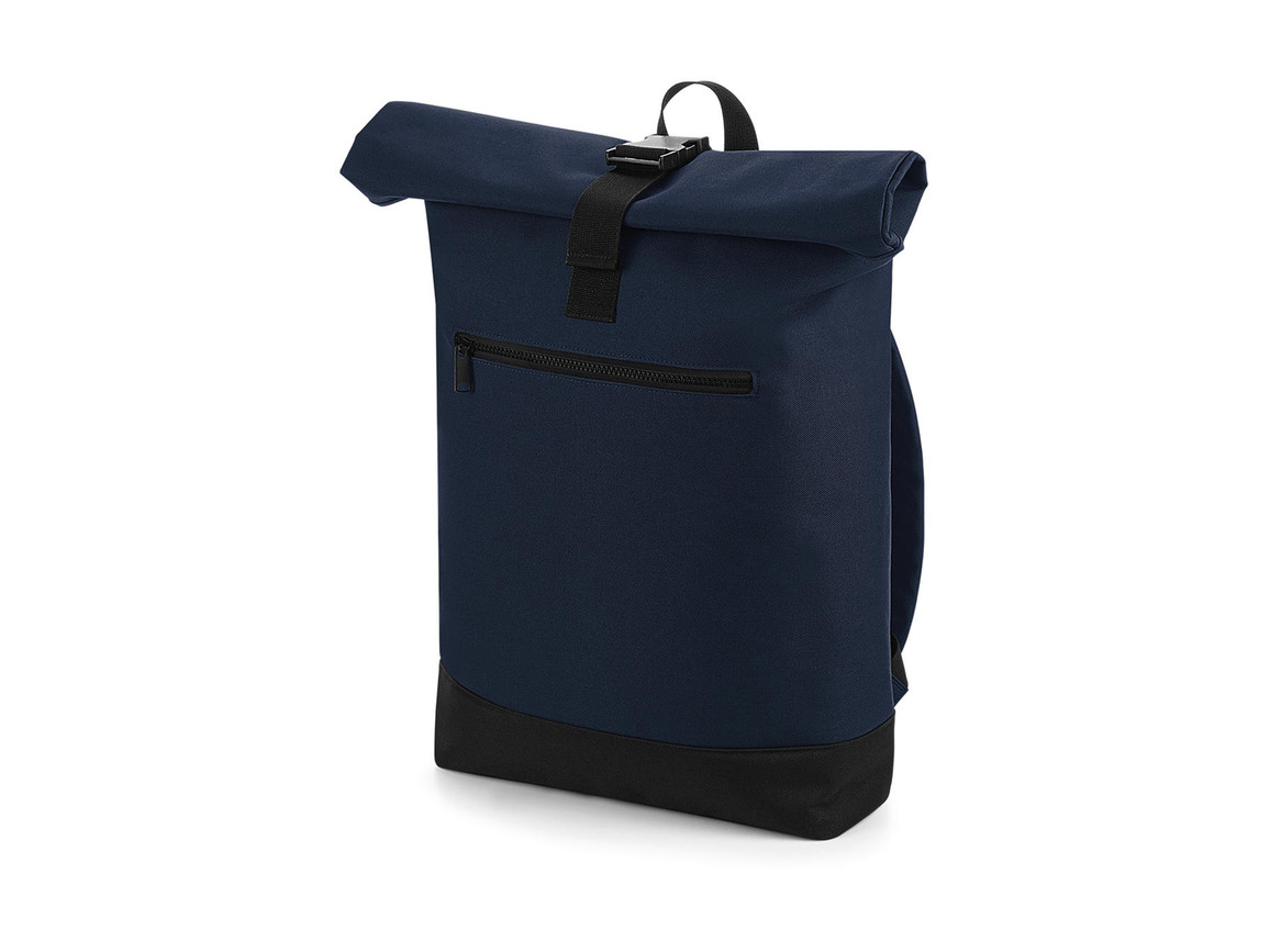 Bag Base Roll-Top Backpack, French Navy, One Size bedrucken, Art.-Nr. 017292010
