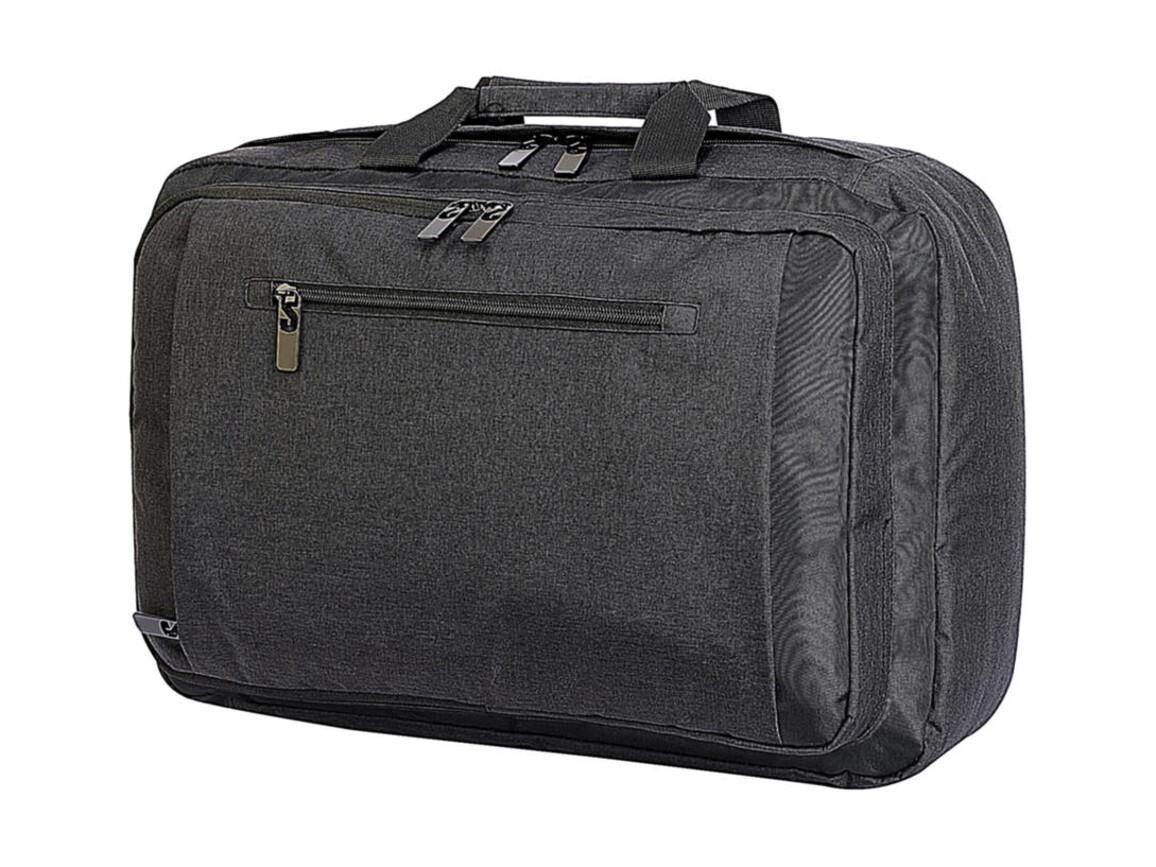 Shugon Bordeaux Hybrid Laptop Briefcase, Charcoal Melange/Black, One Size bedrucken, Art.-Nr. 017381610