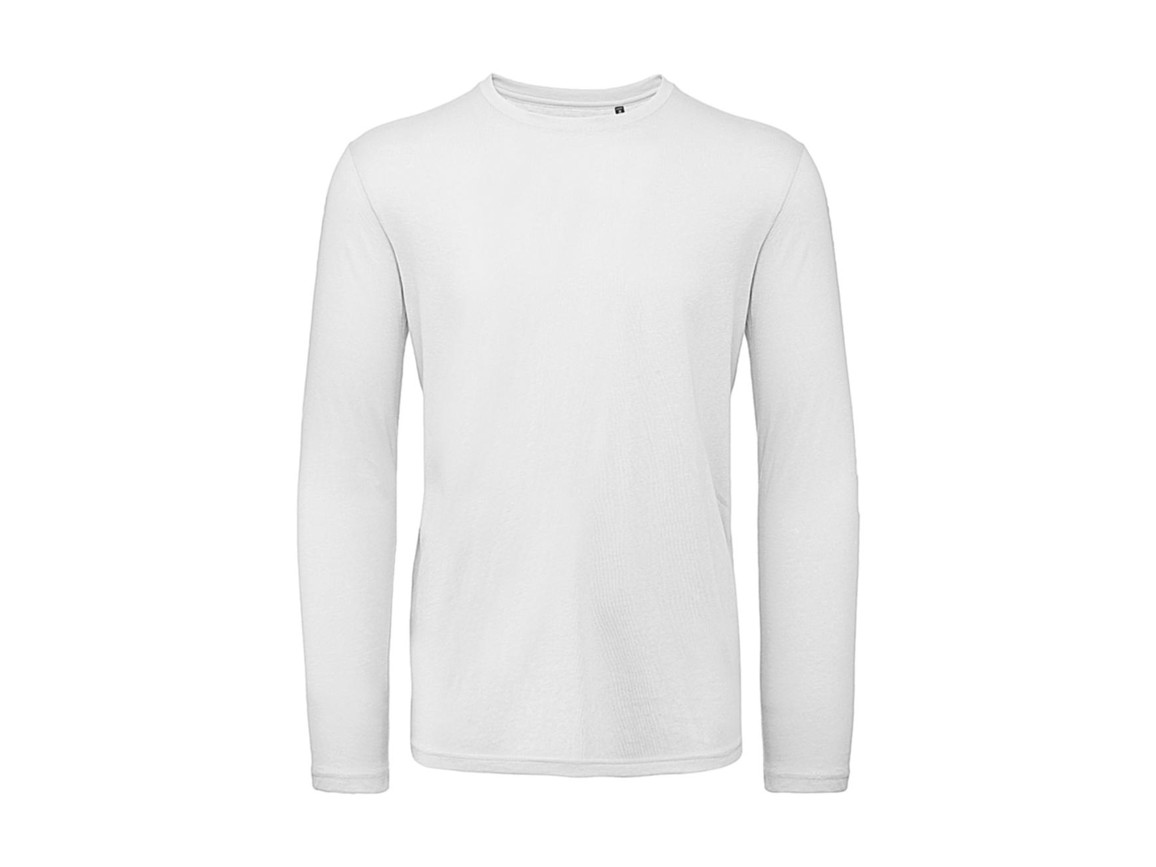 B & C Inspire LSL T /men T-Shirt, White, 3XL bedrucken, Art.-Nr. 017420008