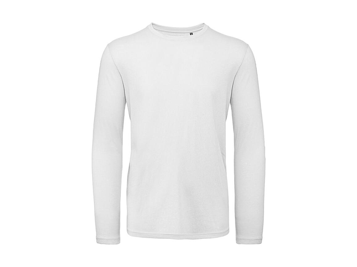 B & C Inspire LSL T /men T-Shirt, White, S bedrucken, Art.-Nr. 017420003