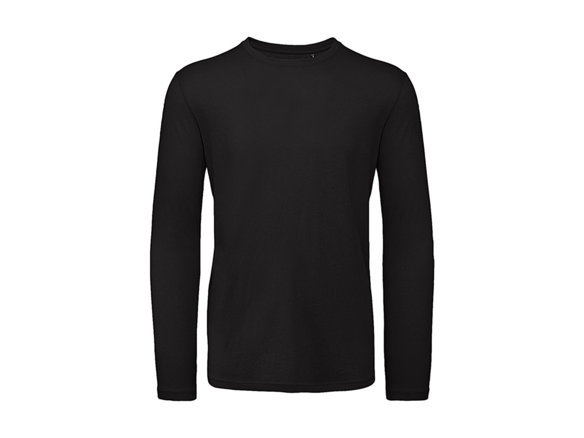 B & C Inspire LSL T /men T-Shirt, Black, S bedrucken, Art.-Nr. 017421013