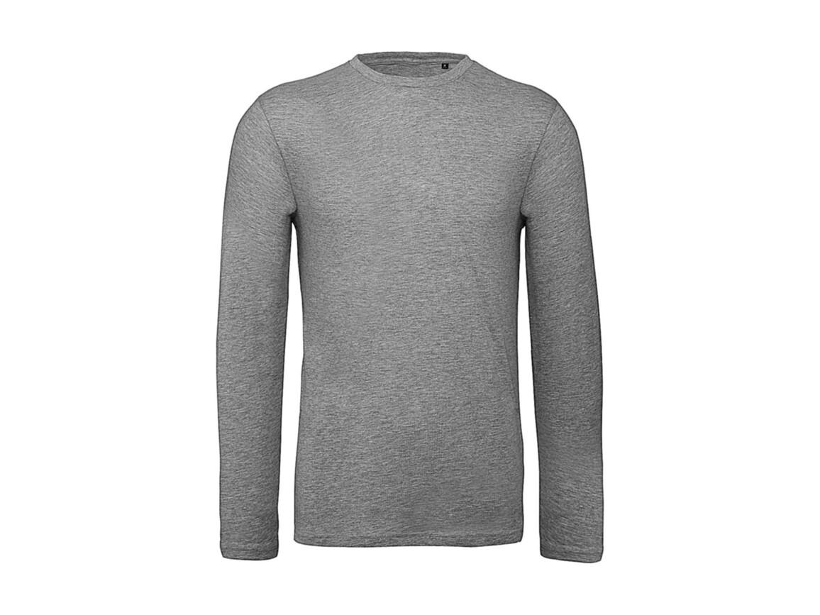 B & C Inspire LSL T /men T-Shirt, Sport Grey, XL bedrucken, Art.-Nr. 017421236