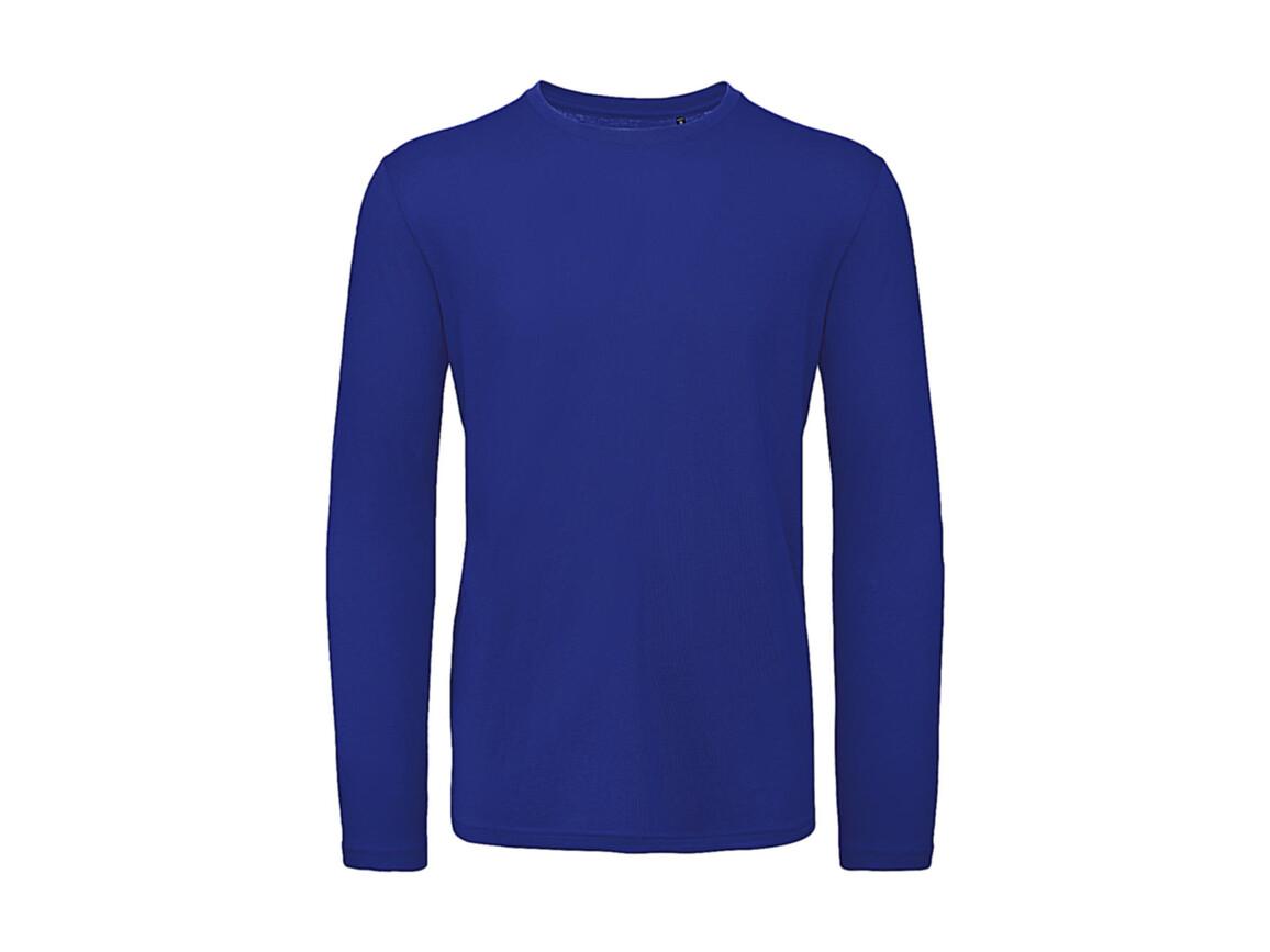 B & C Inspire LSL T /men T-Shirt, Cobalt Blue, L bedrucken, Art.-Nr. 017423075