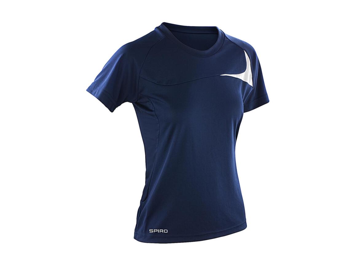 Result Spiro Ladies` Dash Training Shirt, Navy/White, S bedrucken, Art.-Nr. 025332523