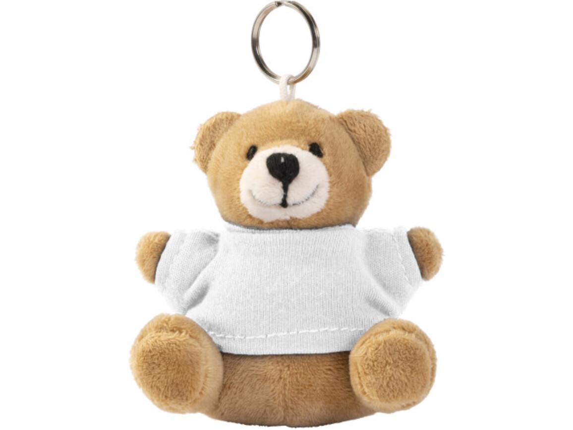 Teddybär Schlüsselanhänger 'Ted' – Weiß bedrucken, Art.-Nr. 002999999_8851