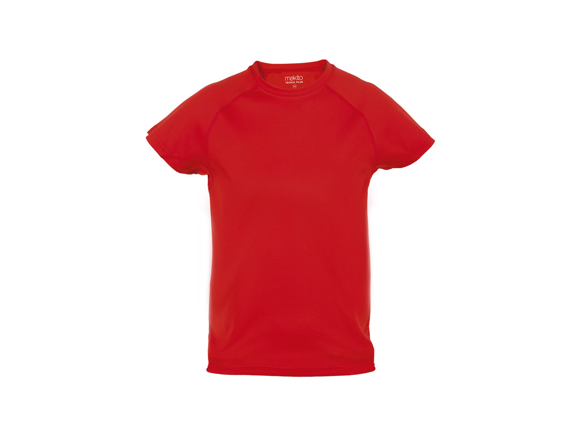 Tecnic Plus - Kinder T-Shirt - ROT - 10-12 bedrucken, Art.-Nr. 4185ROJ10-12