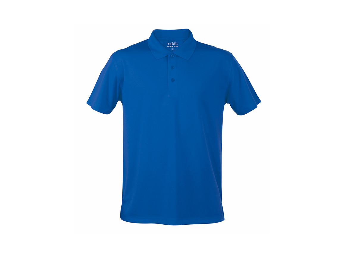 Tecnic Plus - Polo-Shirt - BLUE - M bedrucken, Art.-Nr. 4187AZULM