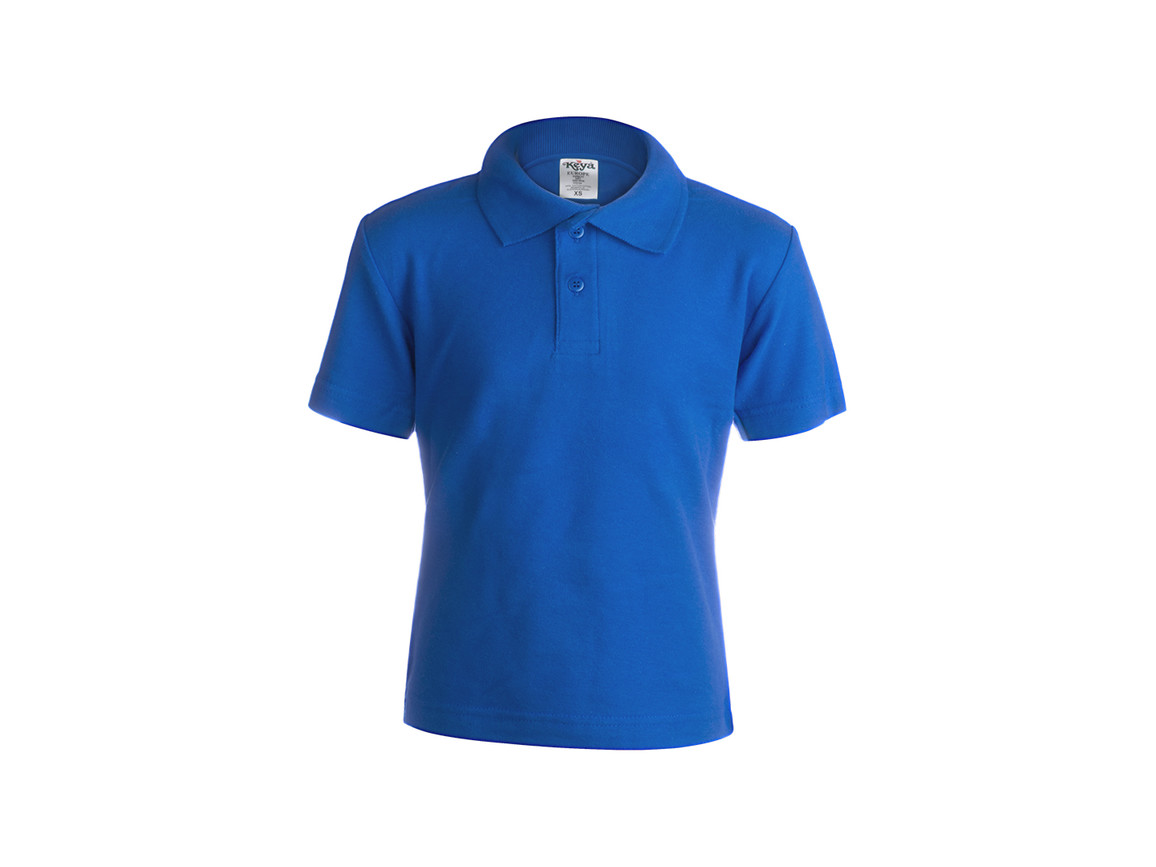 "YPS180 - Kinder Farbe Polo-Shirt ""keya"" - BLUE - L bedrucken, Art.-Nr. 5876AZULL"