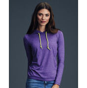 Anvil Women`s Fashion Basic LS Hooded Tee bedrucken, Art.-Nr. 18708