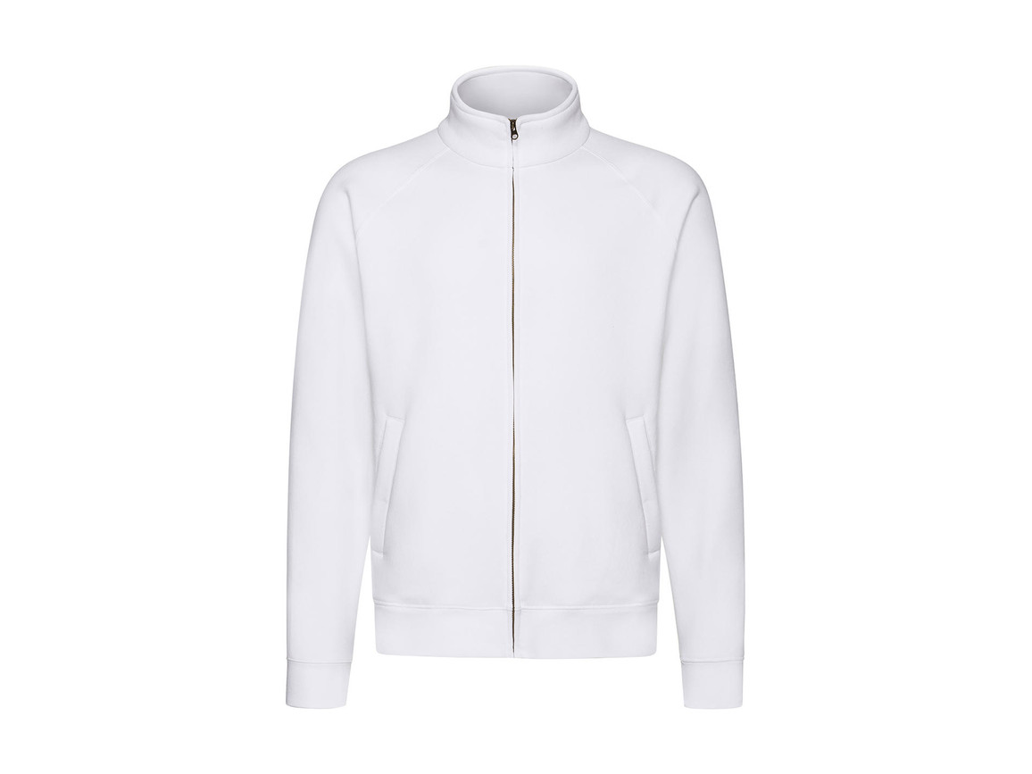 Fruit of the Loom Premium Sweat Jacket, White, M bedrucken, Art.-Nr. 203010004