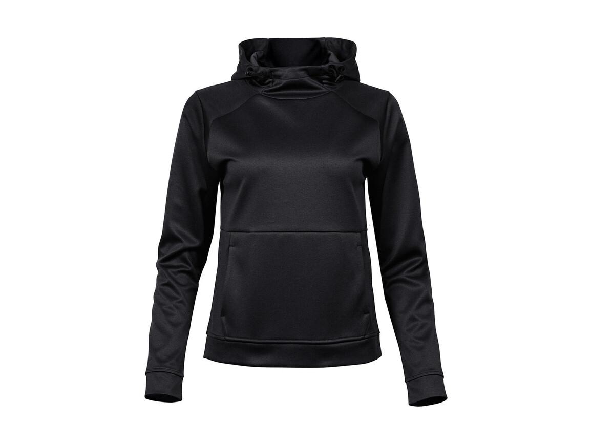 Tee Jays Ladies` Performance Hoodie, Black, XL bedrucken, Art.-Nr. 211541016