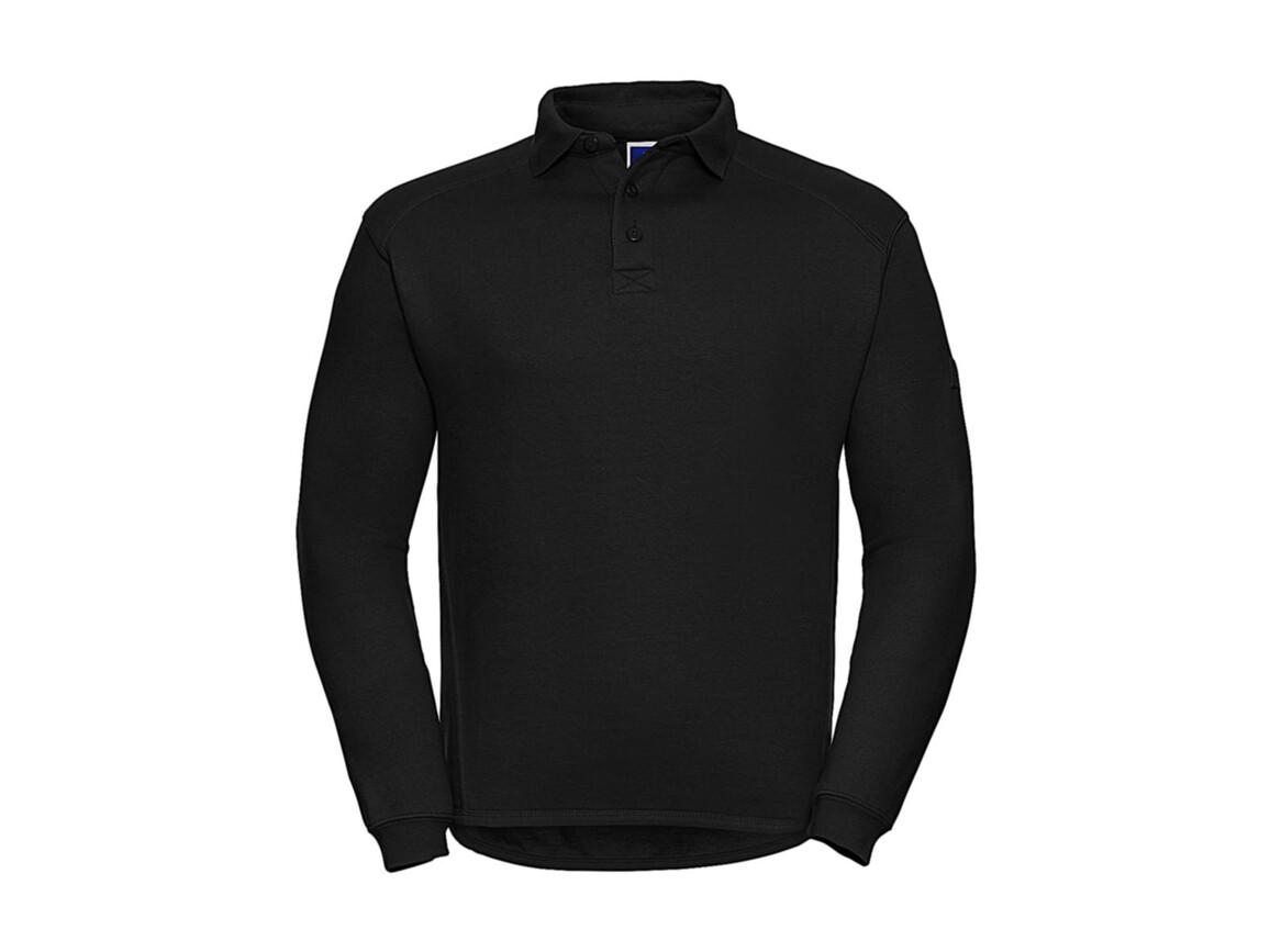 Russell Europe Heavy Duty Collar Sweatshirt, Black, S bedrucken, Art.-Nr. 212001013