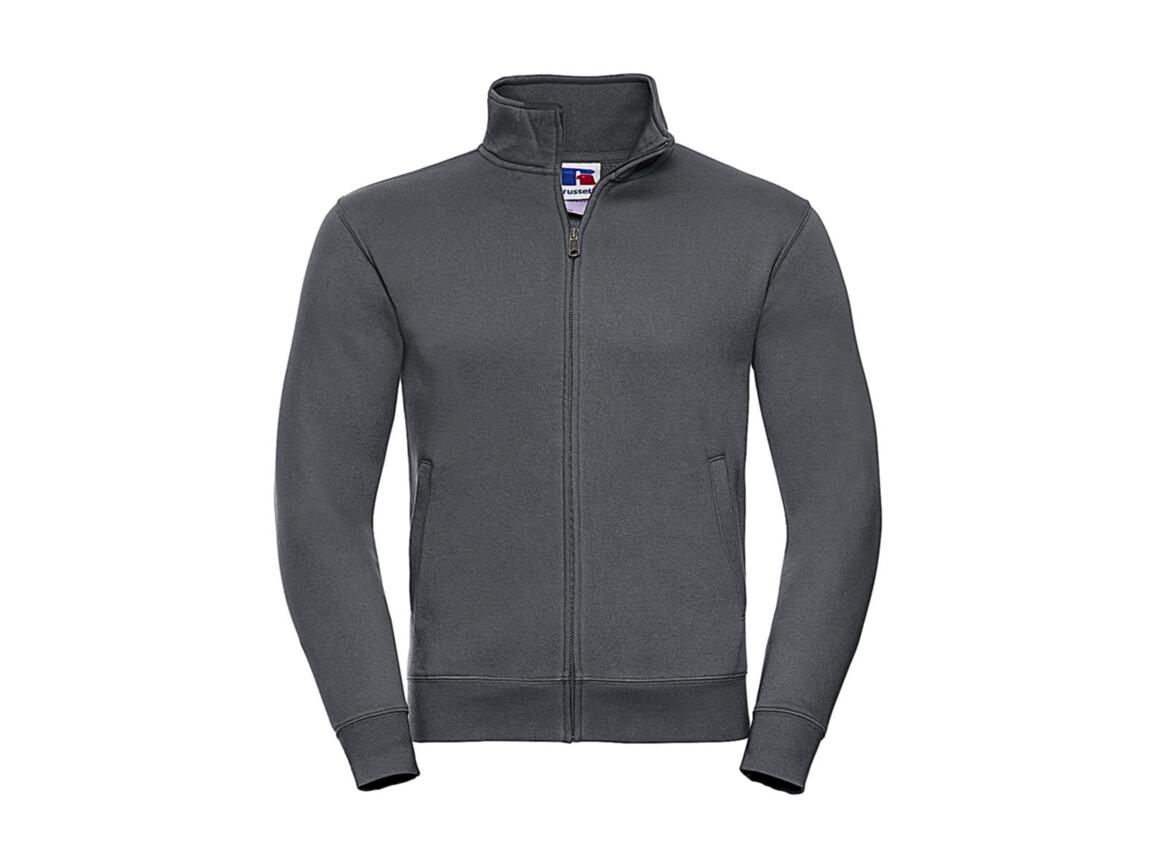 Russell Europe Men`s Authentic Sweat Jacket, Convoy Grey, 2XL bedrucken, Art.-Nr. 220001277