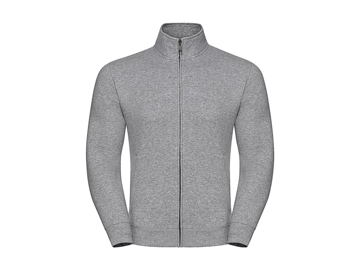 Russell Europe Men`s Authentic Sweat Jacket, Light Oxford, 2XL bedrucken, Art.-Nr. 220007197