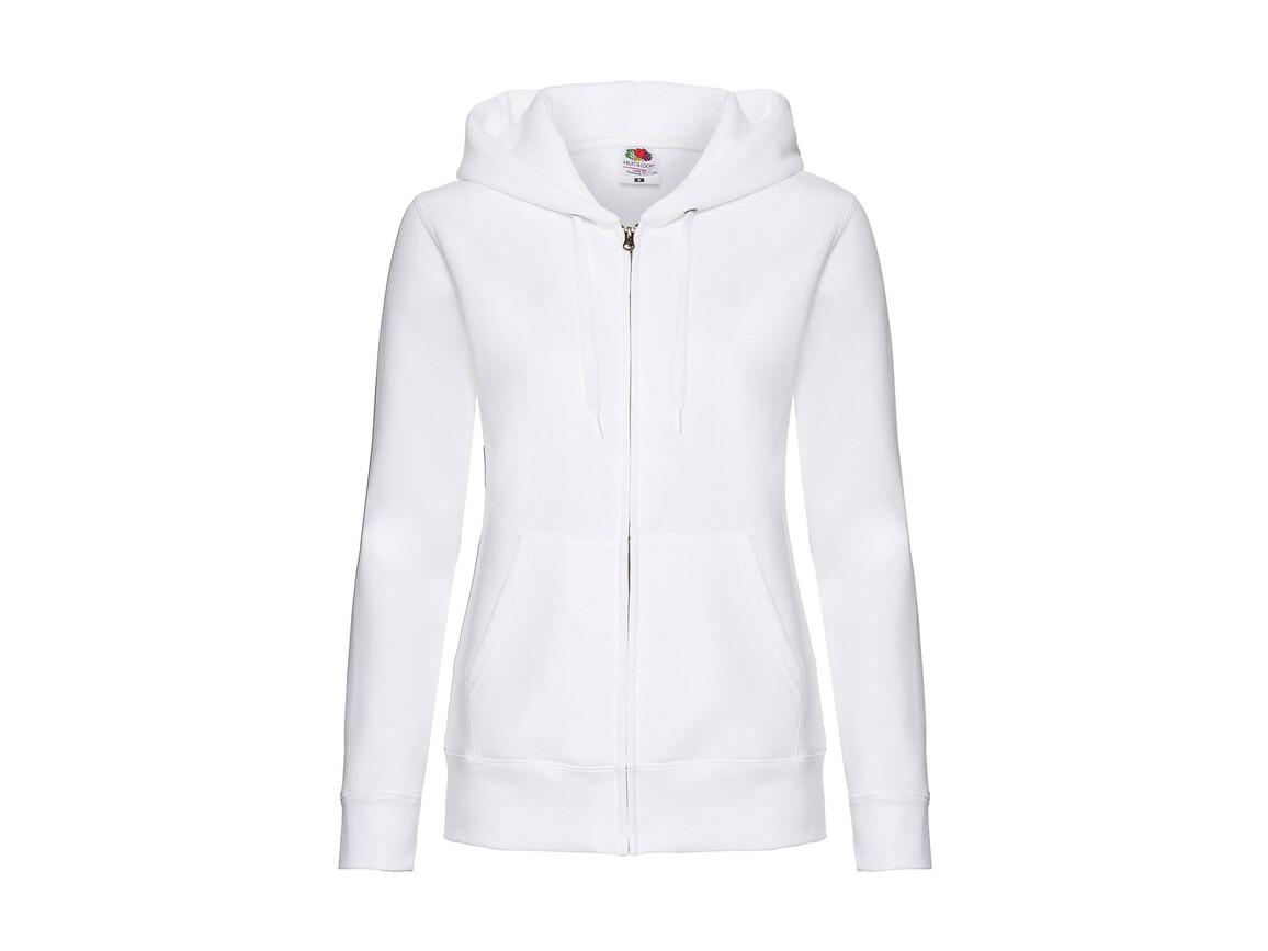 Fruit of the Loom Premium Hooded Sweat Jacket Lady-Fit, White, XL (16) bedrucken, Art.-Nr. 254010006