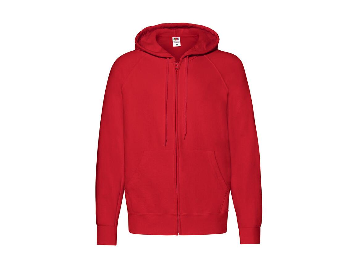 Fruit of the Loom Lightweight Hooded Sweat Jacket, Red, M bedrucken, Art.-Nr. 266014004