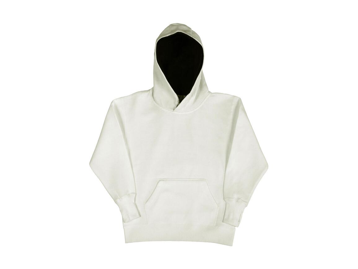 SG Kids` Contrast Hoodie, White/Navy, 128 (7-8/L) bedrucken, Art.-Nr. 280520525