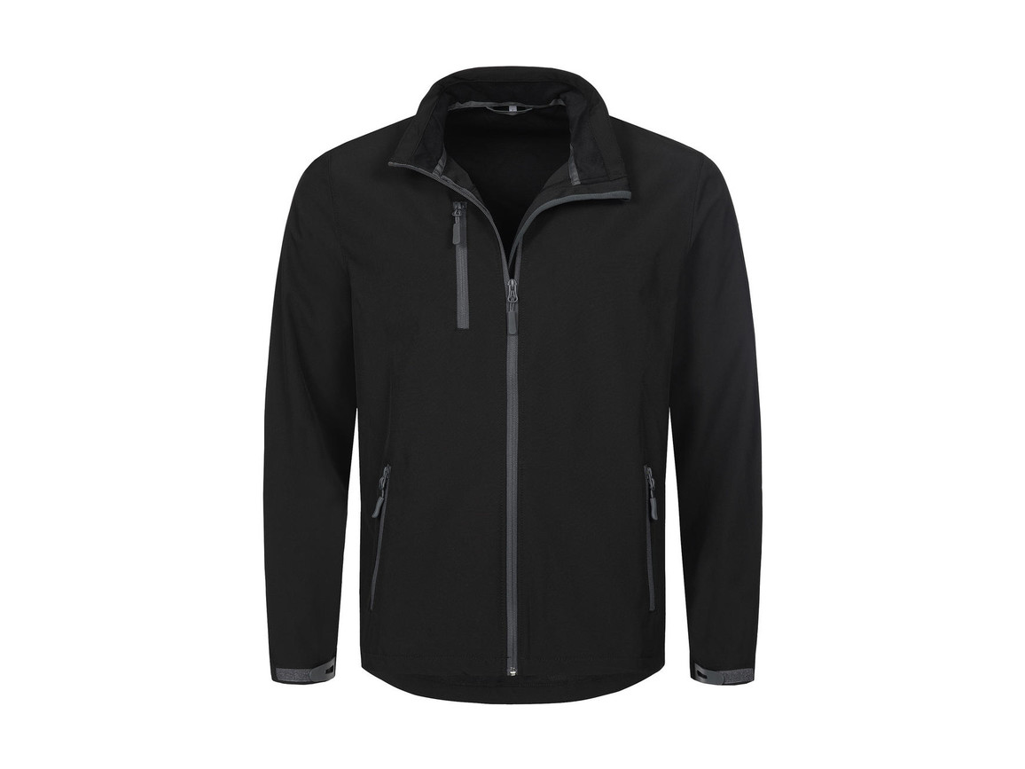 Stedman Active Softshell Jacket Men, Black Opal, S bedrucken, Art.-Nr. 402051023